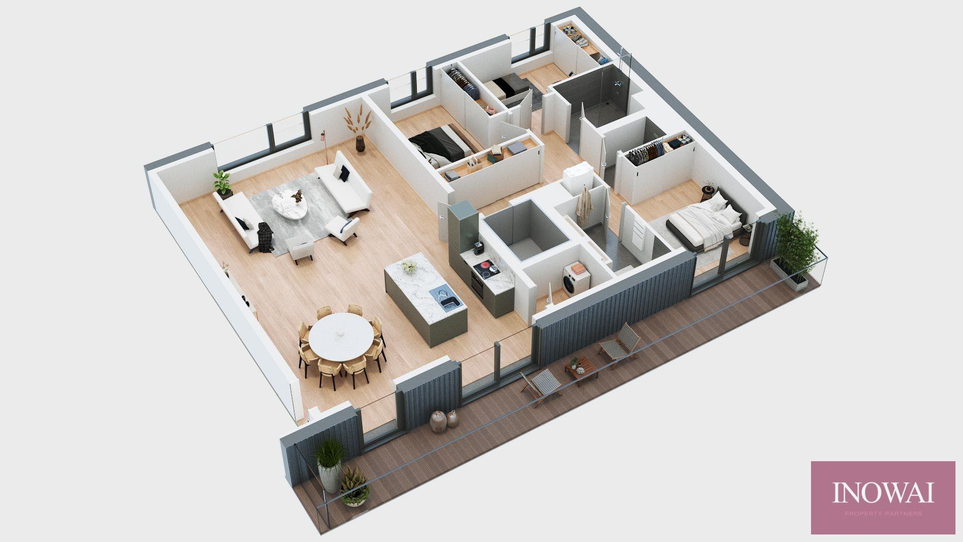 Appartement 3 chambres - projet CANAL 44